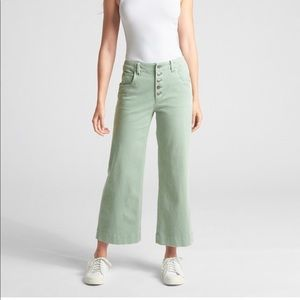 Gap High Rise crop wide leg pants